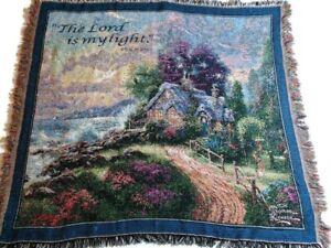 Thomas Kinkade The Lord Is My Light Afghan Throw Blanket Psalm 27