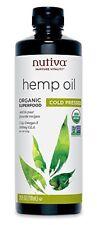 Organic Cannabis Hemp Oil Nutiva Organic Cold-Pressed Unrefined, Skin Care 24 OZ