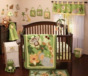 Jungle Babies 9 Piece Crib Bedding Set by NoJo