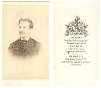 F. D'Alessandri, Portrait d'un homme CDV vintage albumen carte de visi