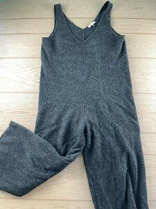 Madewell Romper Gray Medium Merino Wool Blend Cute