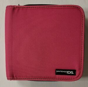 Genuine Nintendo DS Hot Pink Travel Carrying Case For Console and Games Zipper