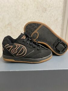 HEELYS Youth Size 2 Preowned Black/brown Bronze