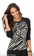 Viscose Animal Print Plus Size Jumpers & Cardigans for Women