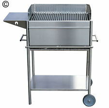 "Edelstahlgrill Premio ""Familie"" - Holzkohle Grill - Grillwagen - Made in Germany"