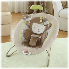Fisher Price My Little Snugamonkey Deluxe Bouncer Vibrate & Sounds