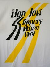 Retro Bon Jovi Music Slippery When Wet Concert T-Shirt New Sz XL