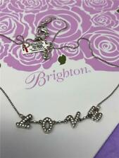 Brighton affections love petite necklace  silver/crystals  NWT