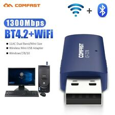 More details for 1300mbps usb 2.0 wireless wifi network receiver adapter 5ghz dongle uk