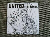 United - Destroy Metal 7'' EP sabbat abigail g.i.s.m. casbah metalucifer ghoul