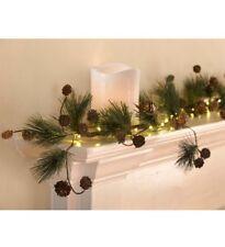 Pine Cone Pre-Lit Garland - Lighted Garland