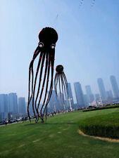 2018 3D 15m Black 1 Line Stunt Parafoil Octopus POWER Sport Kite outdoor toy