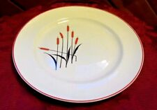 CAMWOOD IVORY CATTAIL DINNER PLATE UNIVERSAL CAMBRIDGE USA 1930-1950'S
