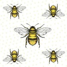 4 x Single Paper Table Napkin/3-Ply/33cm/Decoupage/Honey Bee/Mixed Bees