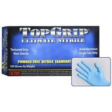 TOPGRIP Blue Nitrile Gloves, 6 mil, Powder Free, Case of 1000 Size M MEDIUM