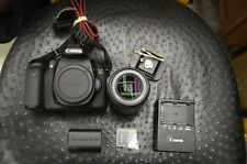 Canon EOS 70D (W) 20.2MP Digital SLR Camera Black 18-55mm STM Lens SHUTTER 10842