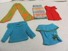 1960's Vint. Barbie Lot Of 5 Skipper Red Sheath, Outdoor Casual, Sunny Pastel