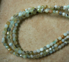 """PERUVIAN BLUE OPAL Faceted Beads 4MM round natural gemstone 15 1/2"""""""