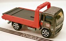 """Matchbox 1990s Style COE Flat-Bed Tow Truck Grey/Red """"Salvage Yard"""" 1:90 Scale"""