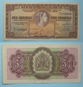 1957 BERMUDA 5 SHILLINGS VF INV#PM111-9