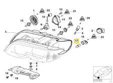 BMW X5 E53 Headlight Bulb Yellow S8 Wedge 3157AK 63217164760