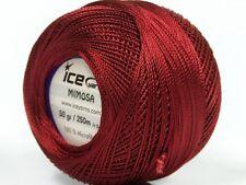 Lot of 6 Skeins Ice Yarns MIMOSA (100% Microfiber) Knitting Wool Burgundy