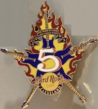 Hard Rock Cafe CLEVELAND 2003 5th Anniversary PIN - 5 Guitars Star - HRC #18584