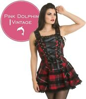 Hell Bunny Harley Oslo Tartan Mini Dress Alternative Punk Rock Gothic Fashion