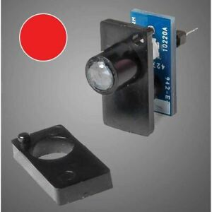 Walthers 942-156 Single Color LED Fascia Turnout Track Indicator, Red
