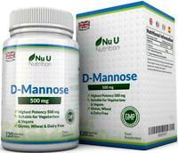 D-Mannose Tablets 500mg Mannose High Strength 120 tablets  for Vegetarian Vegans