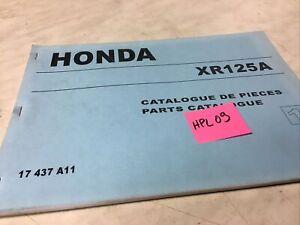 Honda XR125A Piezas List Lista Catálogo Pieza Suelta XR 125