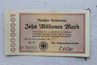 30255 Billet de Banque Deutsche Reichsbahn 2. 9. 1923 10 Millions Mark Berlin
