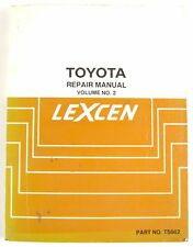 Toyota Lexcen (VN Commodore) 1989 factory workshop manual Vol 2