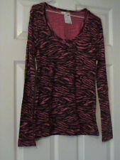 Nwt Long Sleeve Black & White Zebra Print Knit Top - Large