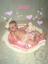 "New ListingAmy Kate Doll Designs ~ 18"" Full Body Silicone Baby Girl Doll Dotti w/ Drink/Wet"