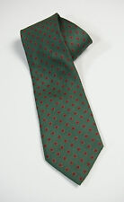 Carlo Colombo Tie Rack Silk Tie Green with Red Ovals Made in Italy