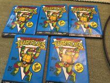 Teenage Mutant Ninja Turtles TMNT vintage Wax Pack Sealed  Lot Of 5