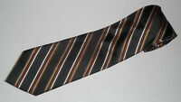 New Jos A Bank Tie Signature Stripe Luxury Woven Black Gold Silk Jacquard Mens