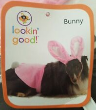 LOOKIN GOOD Pink Bunny Halloween Dog Costume Size M/L