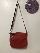 Ladies handbag paprika rust  BAGGALLINI cross body organizer travel H27