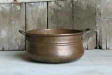 Antique Copper Pot, Vintage Copper Pot with Handles, Hand Forged Copper Planter