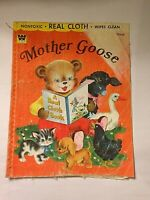 Vintage 1956 Book Whitman Publishing Co Mother Goose A Real Cloth Book  #2225:69