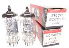 2x ECC803S = ECC83 = E83CC = 12AX7WA RSD Radio Röhre tube NOS NEW NEU  #2468