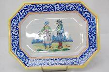 HB Quimper Plat Faïence Breton Bretagne Ancien Antique French Plate Henriot