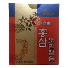 IL HWA Korean Roter Ginseng 100 Kapseln 100% Reines Pulver 6 Jahre
