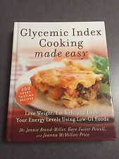 Glycemic Index Cooking Made Easy Recipe Cookbook Color Hardcover 2007