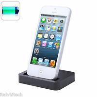 DOCKING DOCK STATION USB DA TAVOLO PER IPHONE LIGHTNING NERA NUOVO MODELLO
