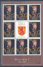 GAMBIA 2012 KINGS & QUEENS OF ENGLAND  KING WILLIAM I SHEET OF EIGHT+LABEL