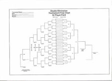 "Large Blank 32-team Double Elimination Tournament Chart 36"" x 24"""