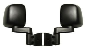 NEW Manual Black Side View Mirror Set Pair / FOR 1988-2006 JEEP WRANGLER TJ & YJ